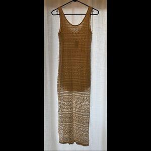 Ivory Crochet Sleeveless Maxi Dress